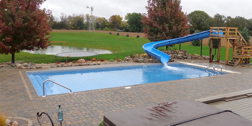 Paver Deck and Automatic Pool Cover - St Joe Valley Pools
